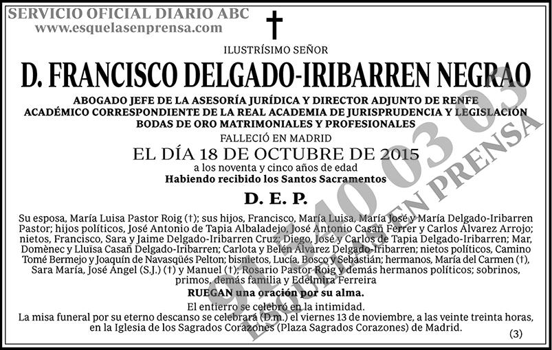 Francisco Delgado-Iribarren Negrao